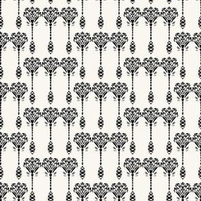 Art Nouveau ornamental motif Jugendstil style.