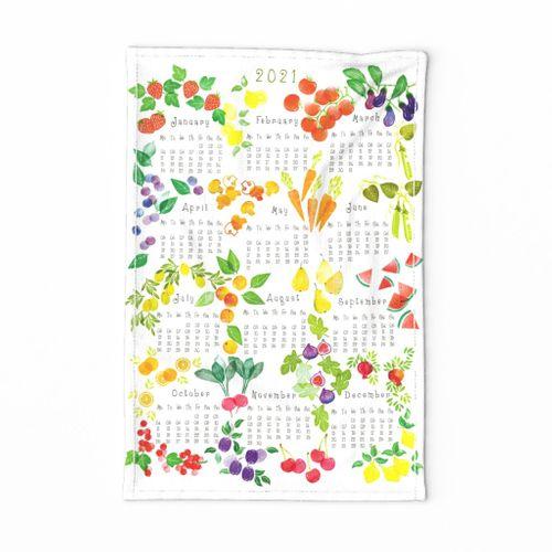 2021 Fruits & Veggies Teatowel Honeygherkin
