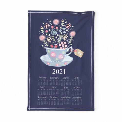 Tea Time 2021 Tea Towel Calendar