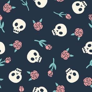 skulls_roses_pattern_pink
