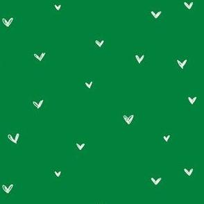 Freehand hearts evergreen Christmas green festive