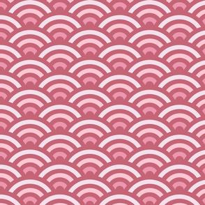 Soft Pink Gradient Seigaiha