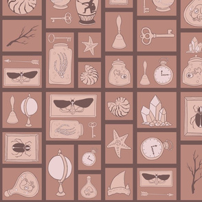 Cabinet of Curiosities - Brown