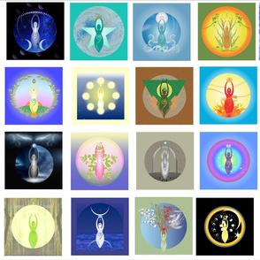 Spiral Goddess Flags