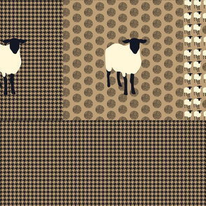 16-09 Sheep Pillow Quilt Panel