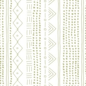 Minimal mudcloth bohemian mayan abstract indian summer love aztec design baby moss green vertical rotated