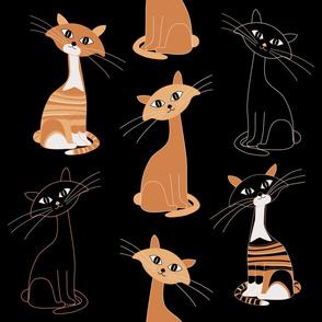 Halloween Curious Cats