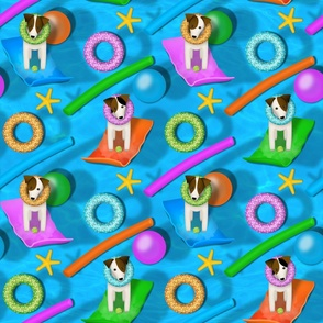 Parson / Jack Russell pool party - large