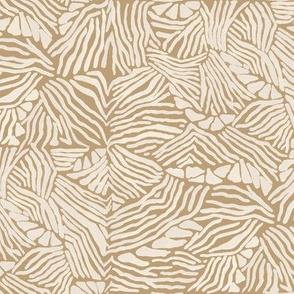 19-12p Zebra Stripe Ivory Khaki Camel Home decor Quilt