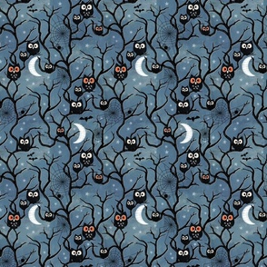 Spooky woods owls small