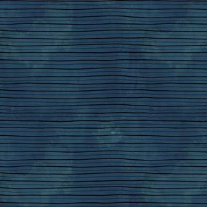 Rough watercolour stripes navy blue