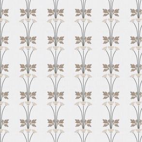 Neutral Art Deco Floral Stripes