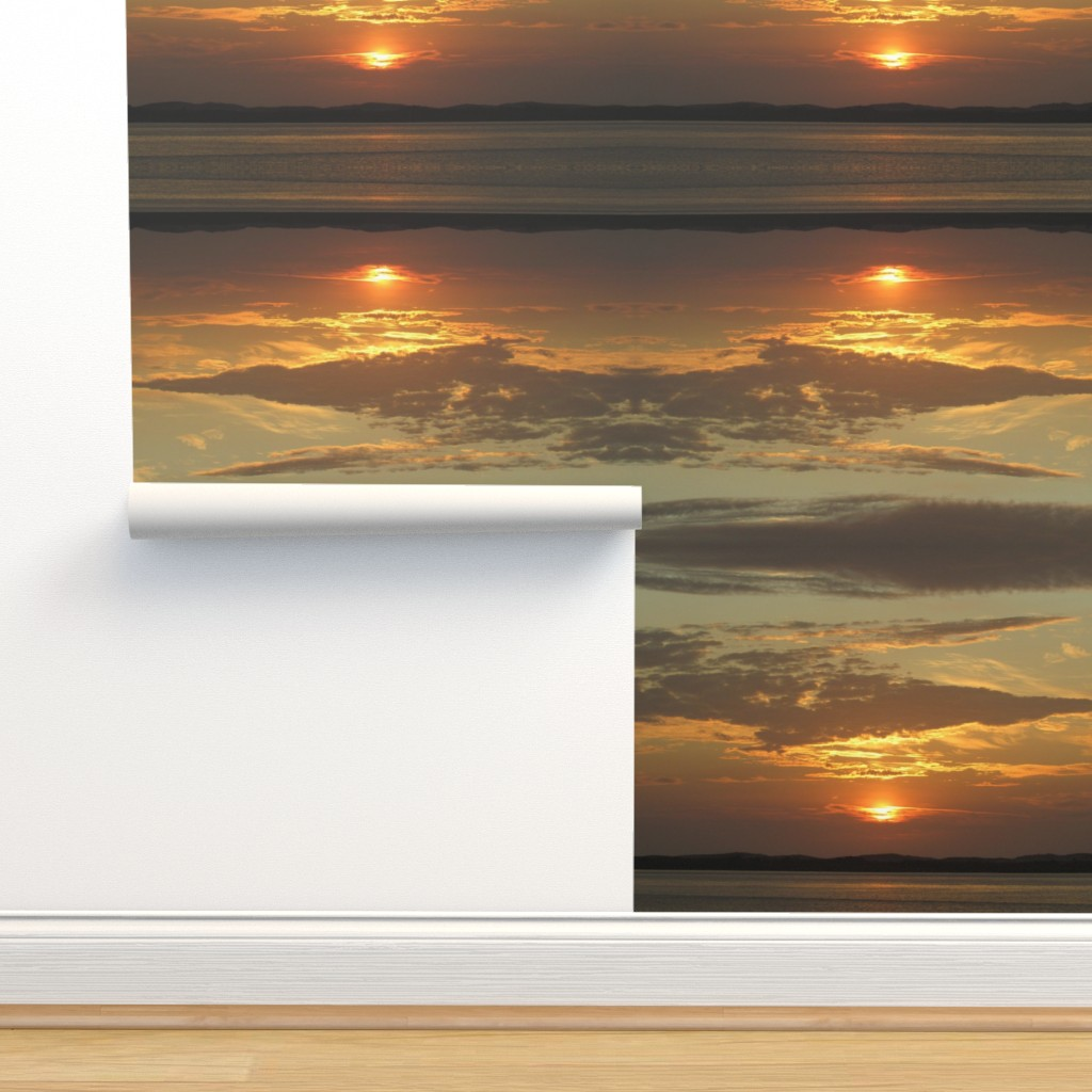 Isobar Durable Wallpaper featuring Sunrise over Assateague by kittykittypurrs