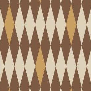 MCM Harlequin: Gold & Neutrals Mod Harlequin, Mid Century Modern Neutrals
