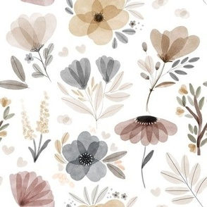 Gray and Neutral Blooms // White