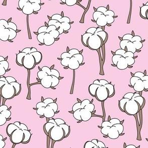Soft cotton bolls autumn winter garden botanical love soft pink white