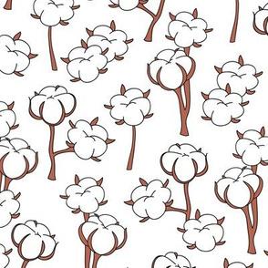 Soft cotton bolls autumn winter garden botanical love soft white