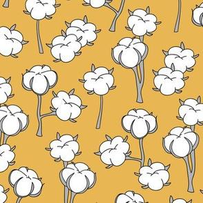 Soft cotton bolls autumn winter garden botanical love soft white ochre