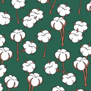 Soft cotton bolls autumn winter garden botanical love soft white forest green
