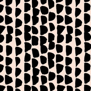 Little rows and spots abstract minimal trend animals print little inky brush strokes dashes black pale peach