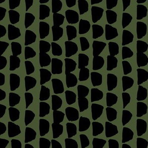 Little rows and spots abstract minimal trend animals print little inky jungle brush strokes dashes black snake forest green