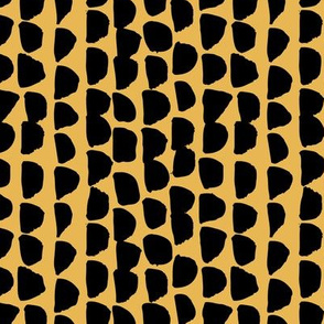 Little rows and spots abstract minimal trend animals print little inky brush strokes jungle dashes black yellow