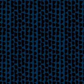 Little rows and spots abstract minimal trend animals print little inky brush strokes dashes black navy blue SMALL
