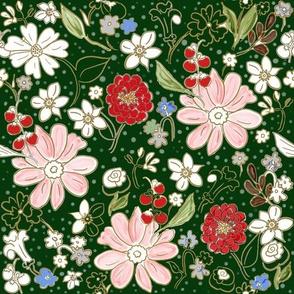 Christmas Bouquet Evergreen