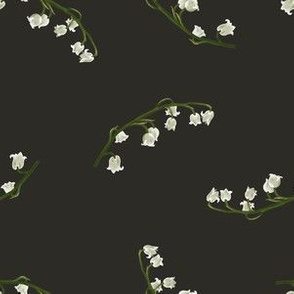 Lily of the Valley Simple on Grey