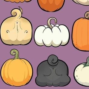 Pumpkins and Pug Butts - dragon purple