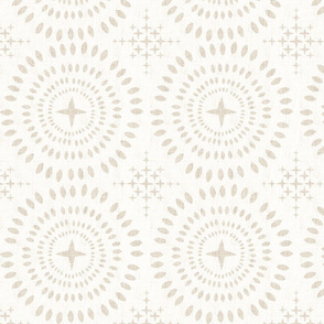 Southwest Mandala-Large-Beige On Ecru