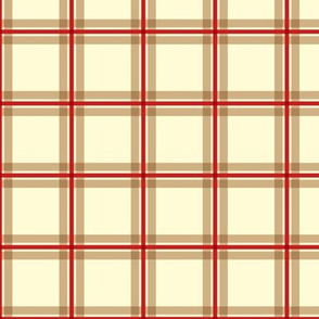 Plaid 1 - Red Tan Ivory ©Julee Wood