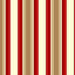 Stripe 2 - Red Tan Ivory ©Julee Wood