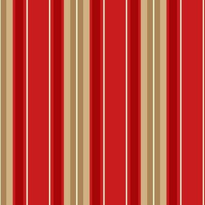 Stripe 1 - Red Tan Ivory ©Julee Wood