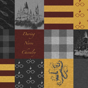 Daring, Nerve, and Chivalry- House Quilt