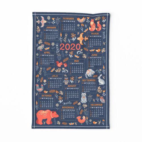 Calendar 2020. Folk Art.