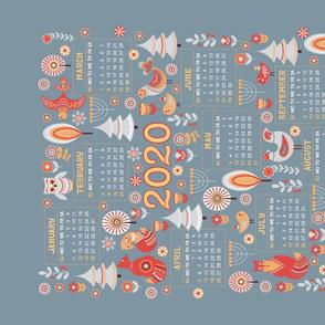 Calendar 2020. Scandinavian style.