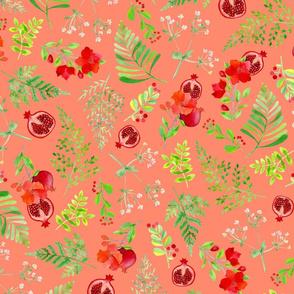 Pomegranate Harvest Coral