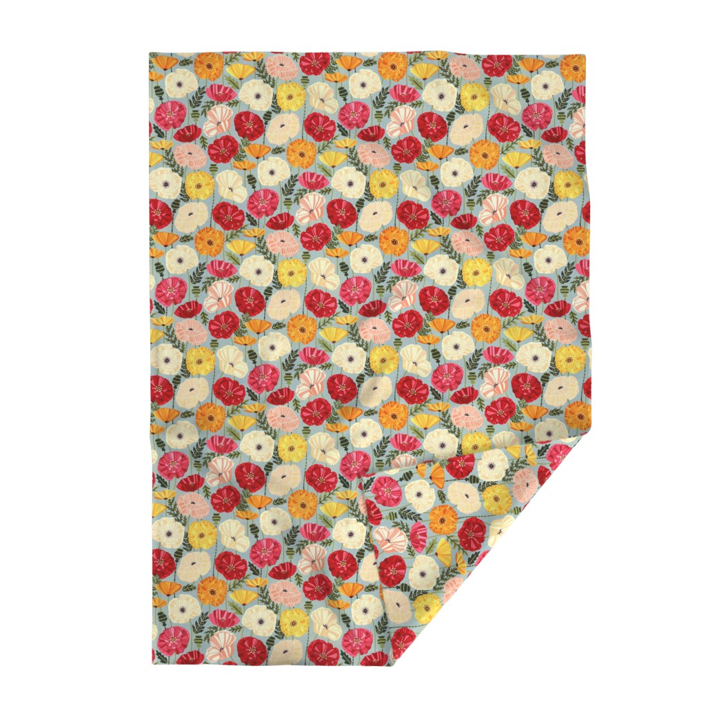 Lakenvelder Throw Blanket featuring Iceland Poppies by tigatiga