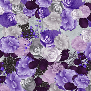 winter flowers in purple