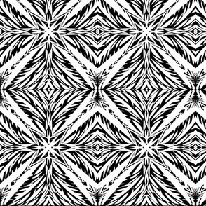 Jungle Diamonds (#2) of White on Black
