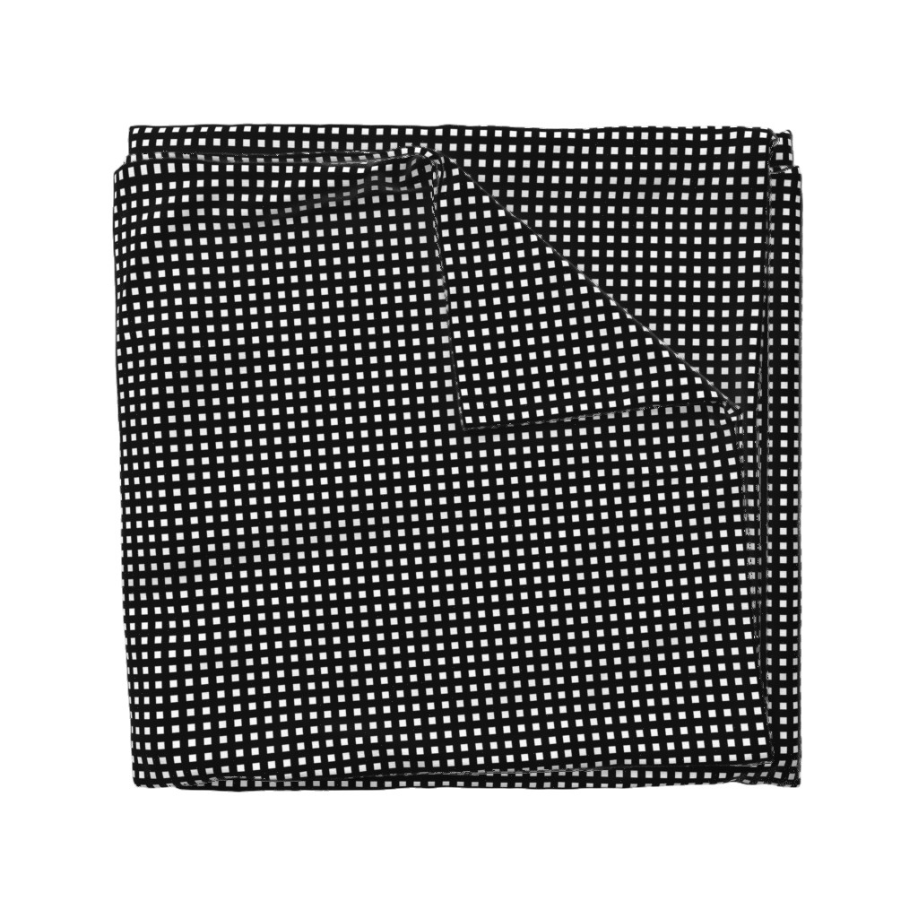 Wyandotte Duvet Cover featuring Square Grid Plaid (Small) // Black by the_artwerks