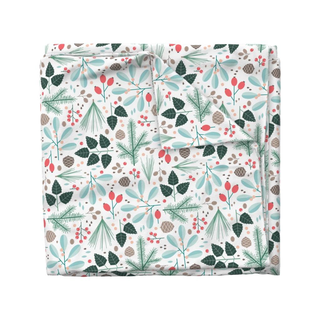 Wyandotte Duvet Cover featuring botanical winter by heleenvanbuul