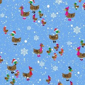 Winter Ducks Snowy Day
