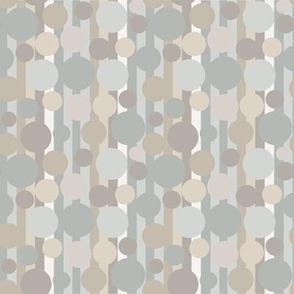 Shades Of Gray Stripes and Circles