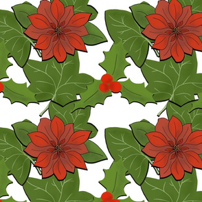 Christmas Flowers and Leaves