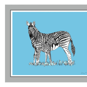 Plains zebra 18x21 fat quarter panel