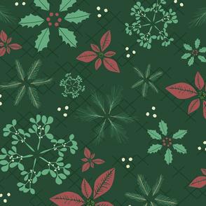 Botanical Christmas Snowflakes