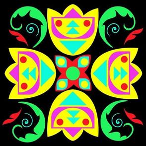 Neon Folk Art
