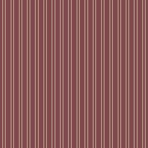 Stripes - Crimson and Cream